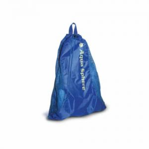 aqua sphere mesh carry all blue deck swim kit bag