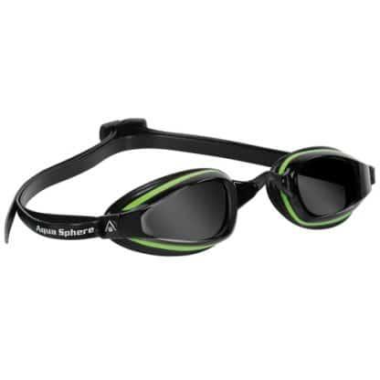 aqua sphere k180 plus michael phelps tinted lens swim goggles green