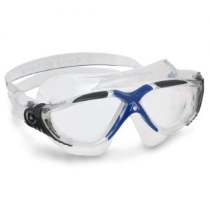 aqua sphere vista comfortable swim goggles with panoramic vision and easy adjust strap