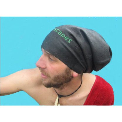 dreadscapes extra large locks braids waterproof silicone black swim cap