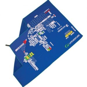 lifeventure soft fibre giant trek towel blue world lightweight ultra absorbent