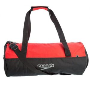speedo duffel red black swim kit bag