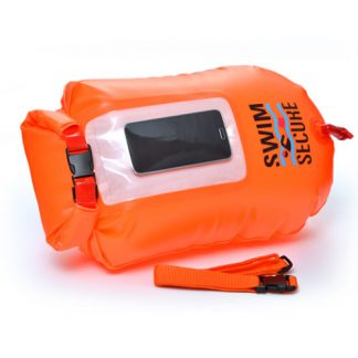 swim secure chillswim inflatable dry bag with phone window
