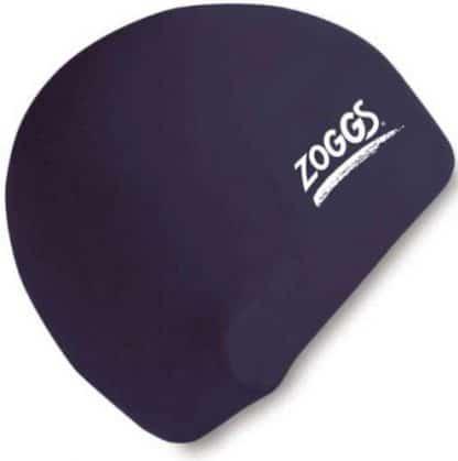zoggs waterproof silicone swim cap black