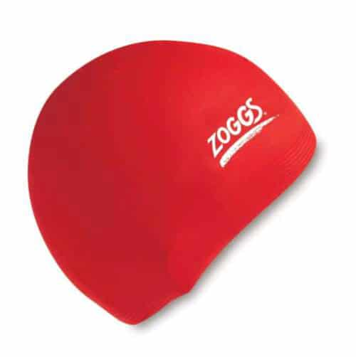 zoggs waterproof silicone swim cap