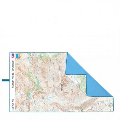 lifeventure soft fibre giant trek towel printed map