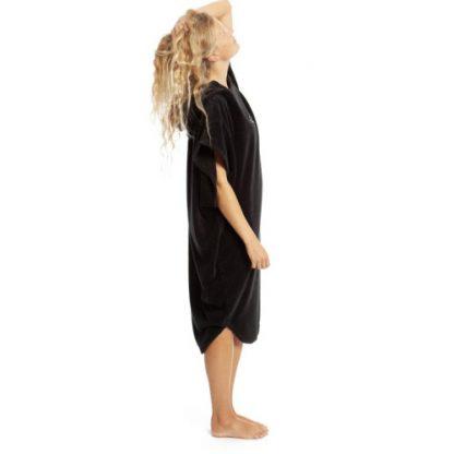 robie robies changing towel robe black