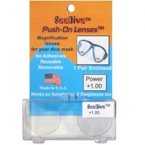 seedive push on bifocal lenses for swim masks and goggles
